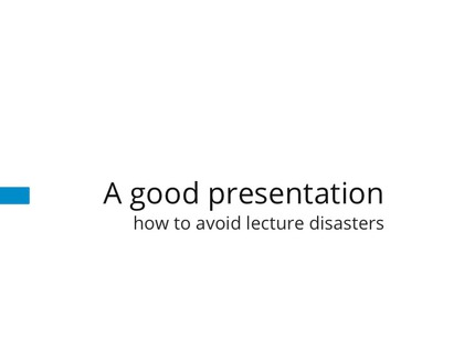 Lecture Disasters preview